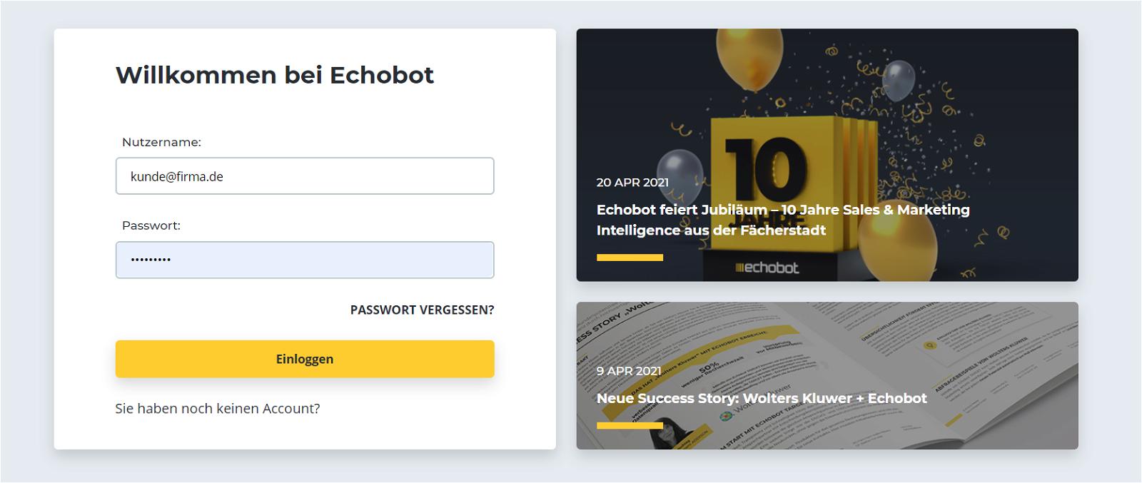 Login Echobot