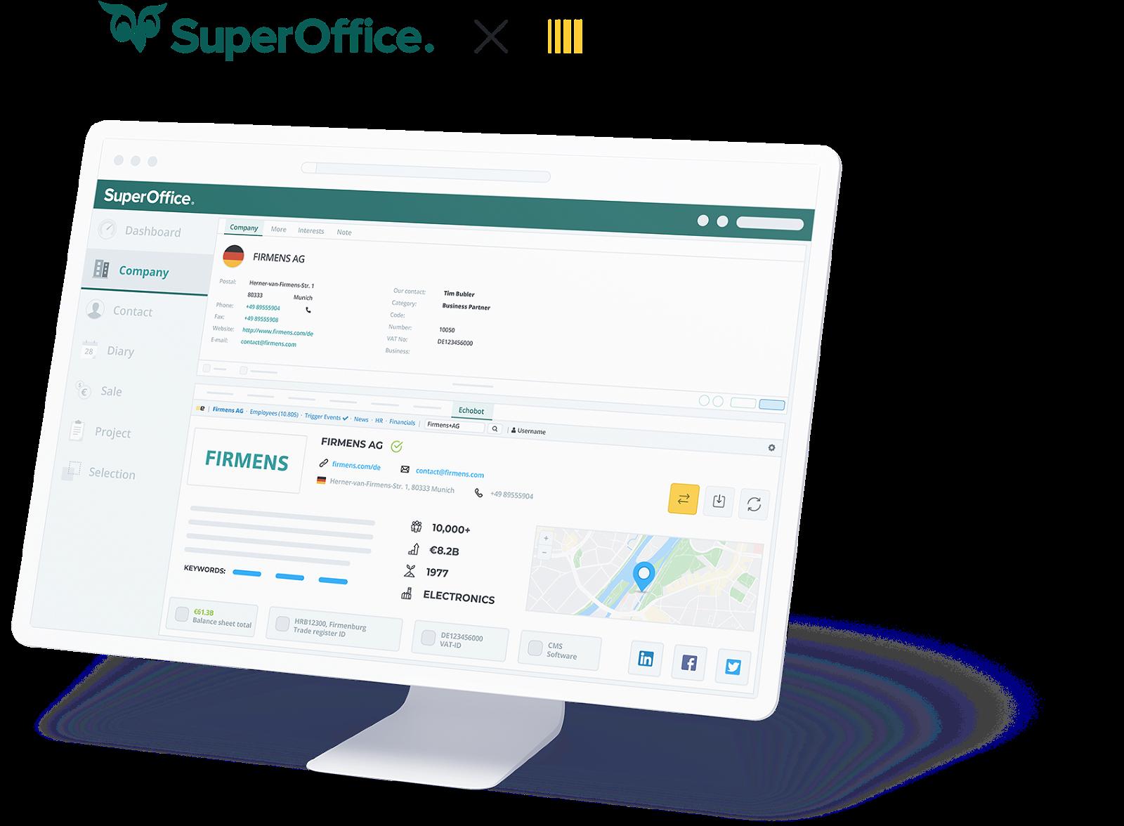 SuperOffice X Echobot