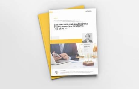 Whitepaper: B2B-Vertrieb und Kaltakquise DSGVO-konform gestalten - so geht's!